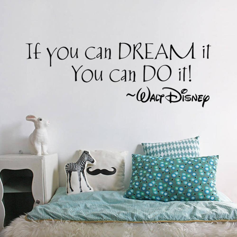 Aliexpress : Buy If You Can Dream It You Can Do It Inspiring Within Inspirational Sayings Wall Art (View 6 of 20)