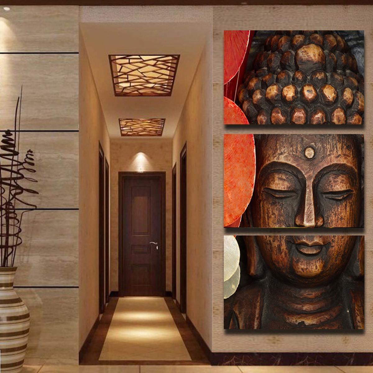 Aliexpress : Buy Jermyn 3 Piece Wall Art Diy 3D Buddha Oil Pertaining To 3D Buddha Wall Art (View 6 of 20)