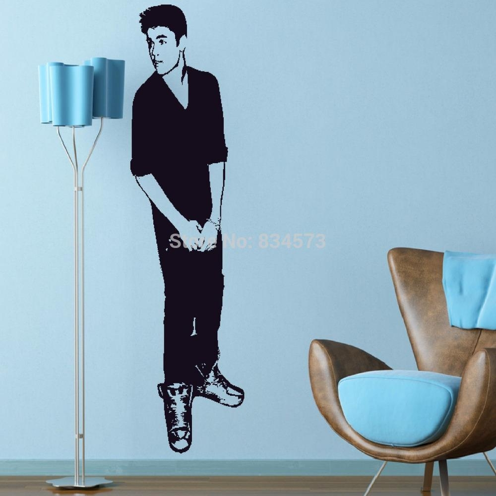 Aliexpress : Buy Justin Bieber Celebrity Silhouette Wall Art With Regard To Justin Bieber Wall Art (View 3 of 20)