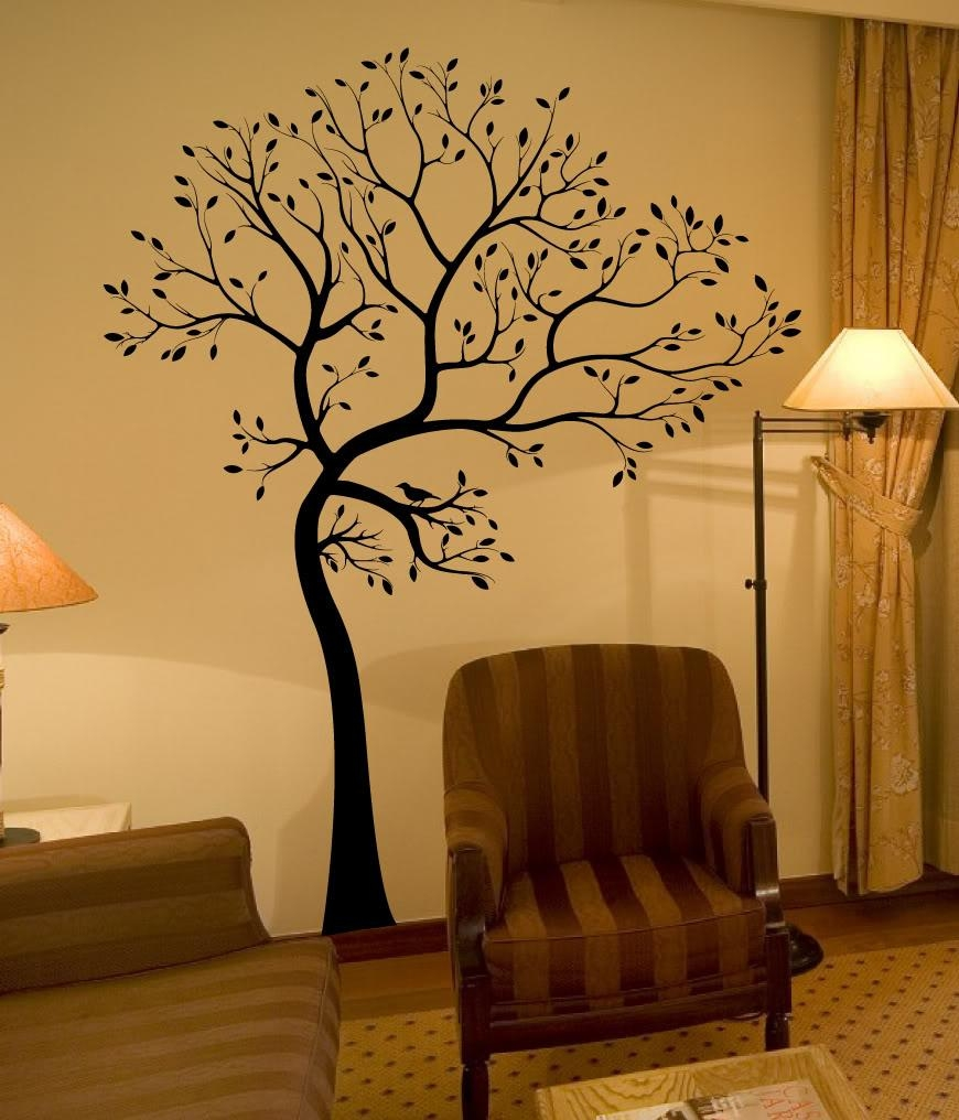 Aliexpress : Buy Large 72*55In Black White 3D Diy Photo Tree With 3D Tree Wall Art (Image 1 of 20)