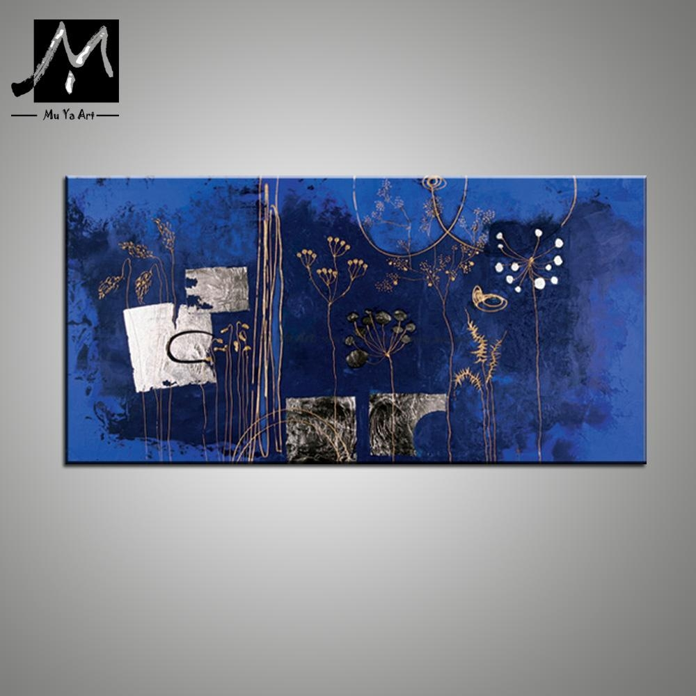 Aliexpress : Buy Large Abstract Dark Blue Flower Acrylic Wall Inside Dark Blue Wall Art (Image 3 of 20)