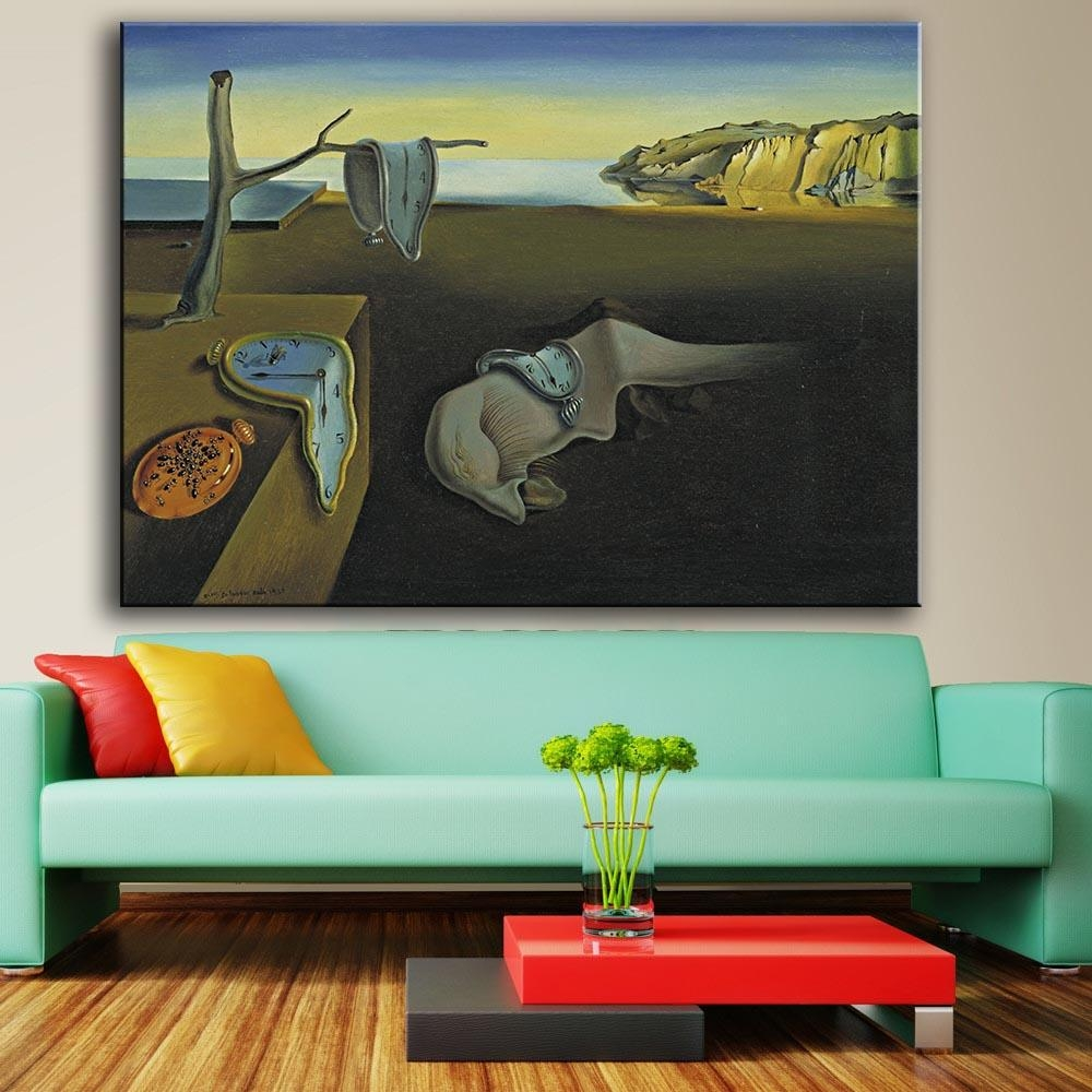 Aliexpress : Buy Large Size Print Oil Painting Wall Painting Inside Salvador Dali Wall Art (Image 2 of 20)
