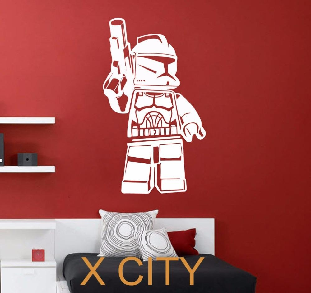 Aliexpress : Buy Lego Clone Trooper Star Wars Movie Art Wall Within Lego Star Wars Wall Art (View 12 of 20)