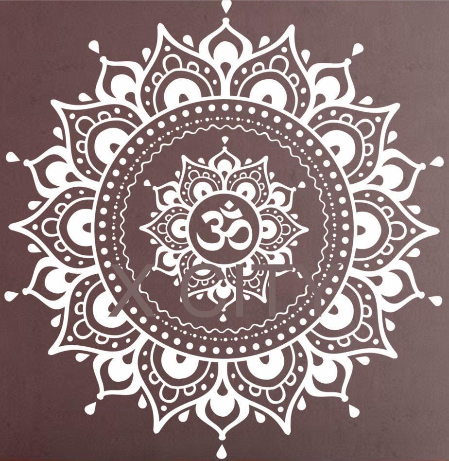 Aliexpress : Buy Mandala Pattern Big Wall Decal Vinyl Art For Pattern Wall Art (View 17 of 20)