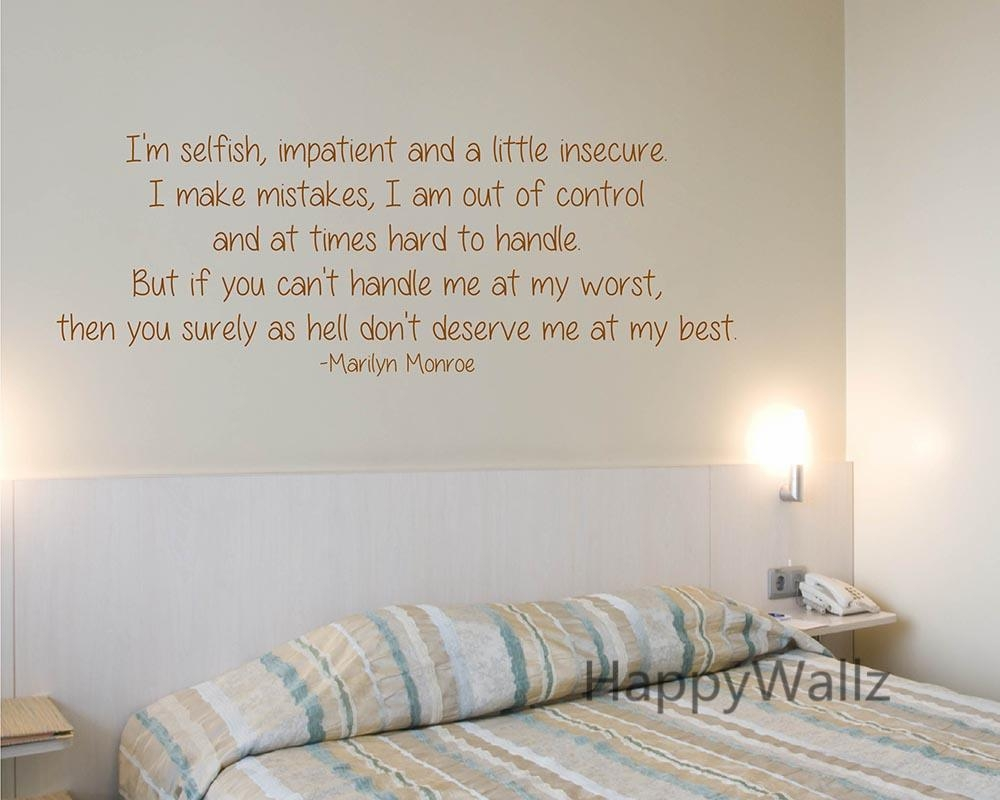 Aliexpress : Buy Marilyn Monroe Love Quote Wall Sticker I'm Inside Marilyn Monroe Wall Art Quotes (View 17 of 20)