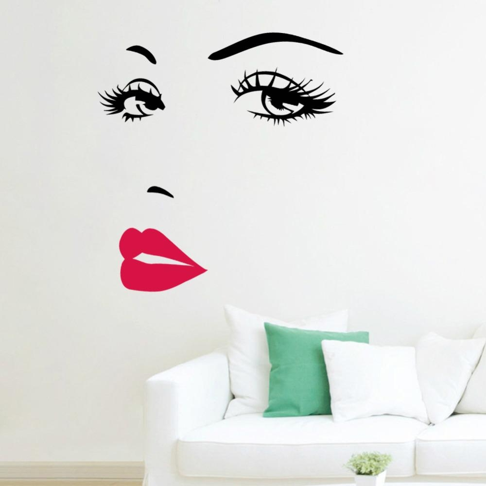 Aliexpress : Buy Marilyn Monroe Quotes Lips Vinyl Wall Throughout Marilyn Monroe Wall Art Quotes (View 2 of 20)