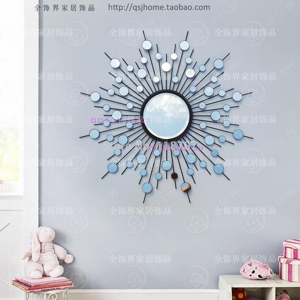 Aliexpress : Buy Metal Wall Mirror Decor Modern Mirrored Wall With Wire Wall Art Decors (Image 1 of 20)