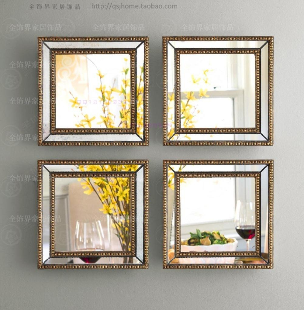 Aliexpress : Buy Mirrored Wall Decor Fretwork Square Wall With Regard To Mirrored Frame Wall Art (Image 6 of 20)