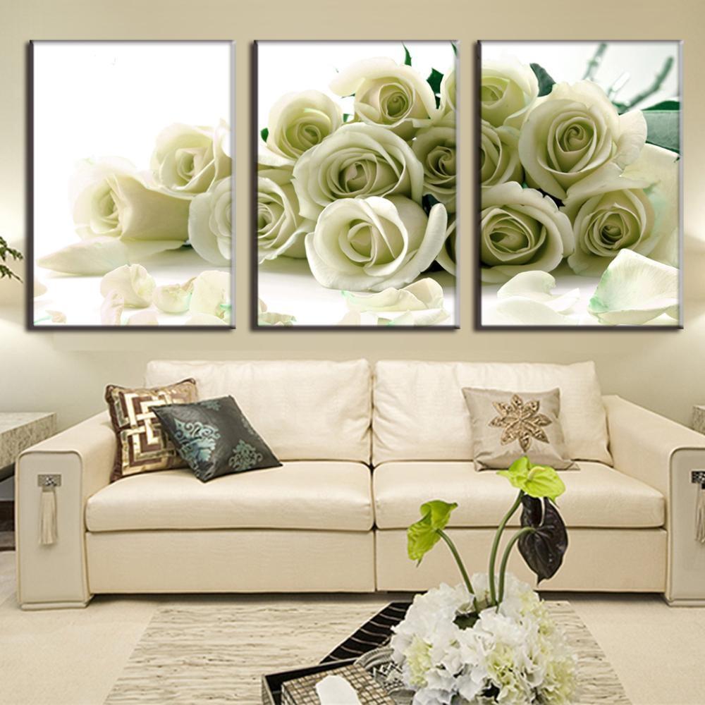 Aliexpress : Buy Modular Canvas Painting Print Wall Art Regarding Rose Canvas Wall Art (Image 3 of 20)