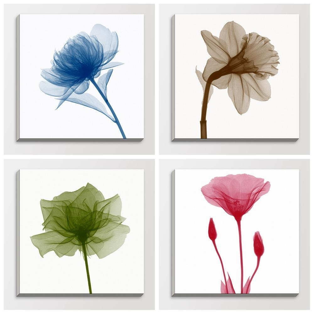 Aliexpress : Buy Nature Transparent Flower Photography X Ray With Regard To Floral & Plant Wall Art (Image 1 of 20)