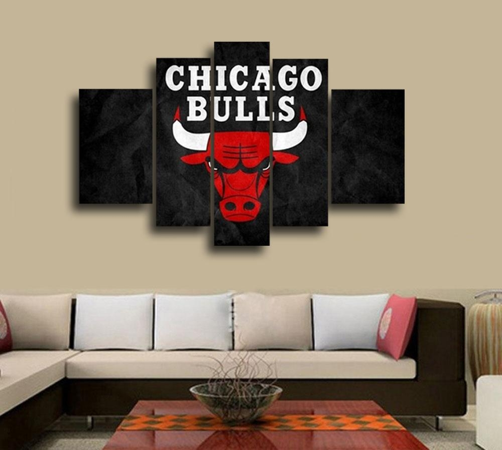 Aliexpress : Buy Nba Chicago Bulls Wall Decoration Abstract In Nba Wall Murals (View 8 of 20)