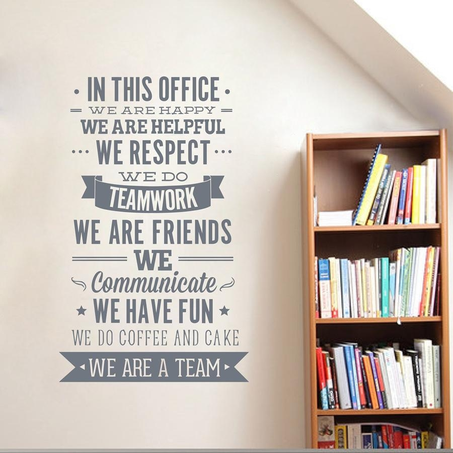 "Aliexpress : Buy Office Rules Wall Sticker "" We Are A Team For Inspirational Wall Decals For Office (View 11 of 20)"