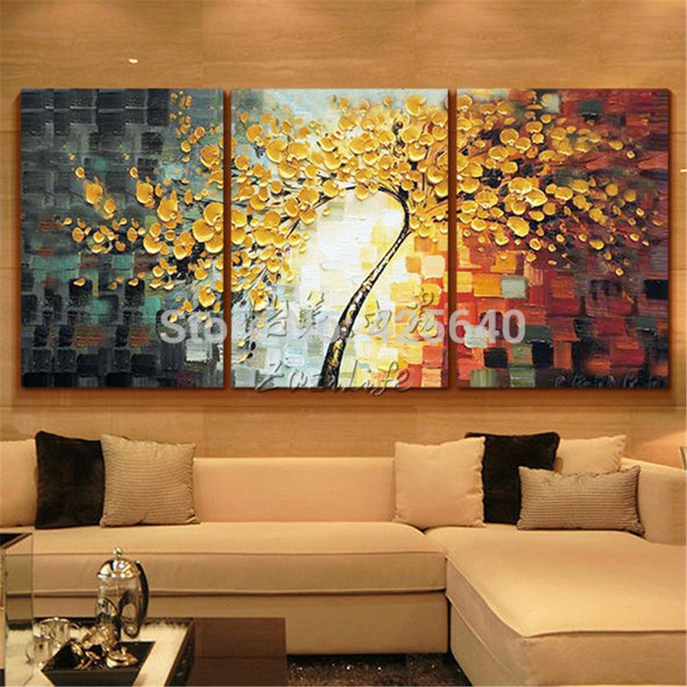 Aliexpress : Buy Oil Painting 3 Panel 3 Piece Canvas Cuadros With 3 Piece Abstract Wall Art (View 9 of 20)