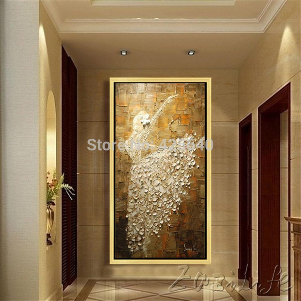 Aliexpress : Buy Oil Painting On Canvas Ballet Dancer Wall Throughout Oil Painting Wall Art On Canvas (View 20 of 20)