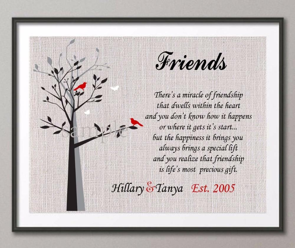 Aliexpress : Buy Personalized Special Friend Gift Family Tree In Personalized Family Wall Art (Image 3 of 20)