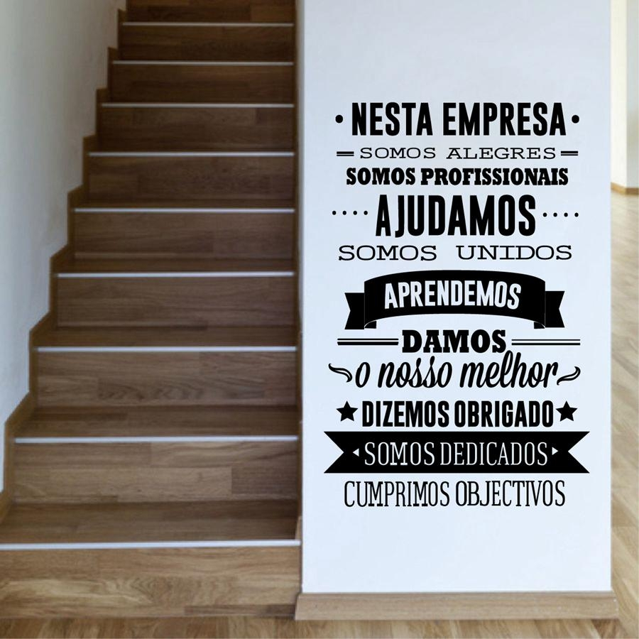 Aliexpress : Buy Portuguese Office Rules Vinyl Wall Stickers In Inspirational Wall Decals For Office (View 17 of 20)