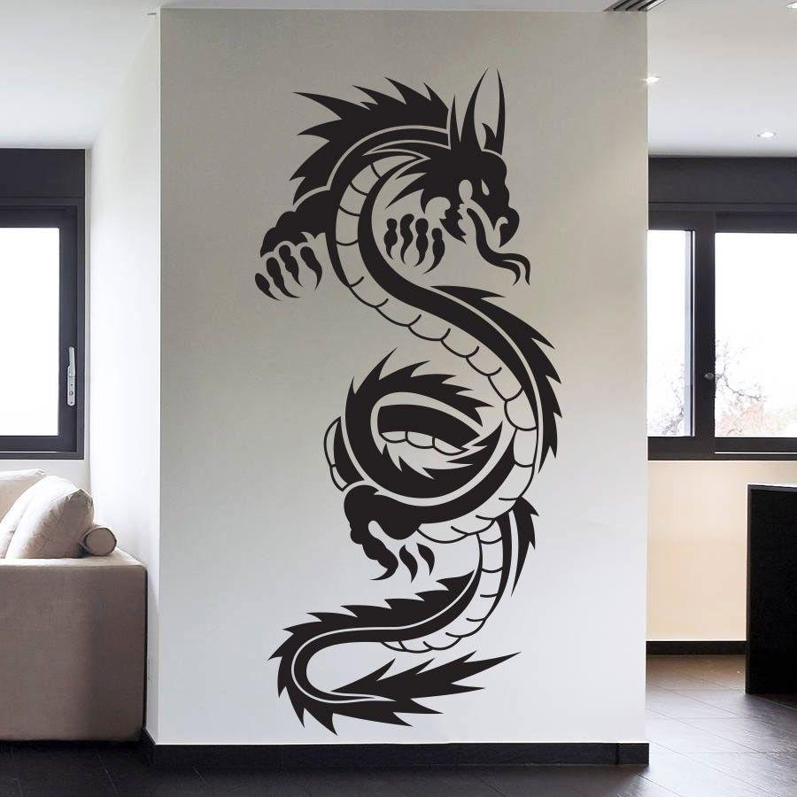 Aliexpress : Buy Removable High Quality Vinyl Wall Art Decals In Tattoos Wall Art (View 4 of 20)
