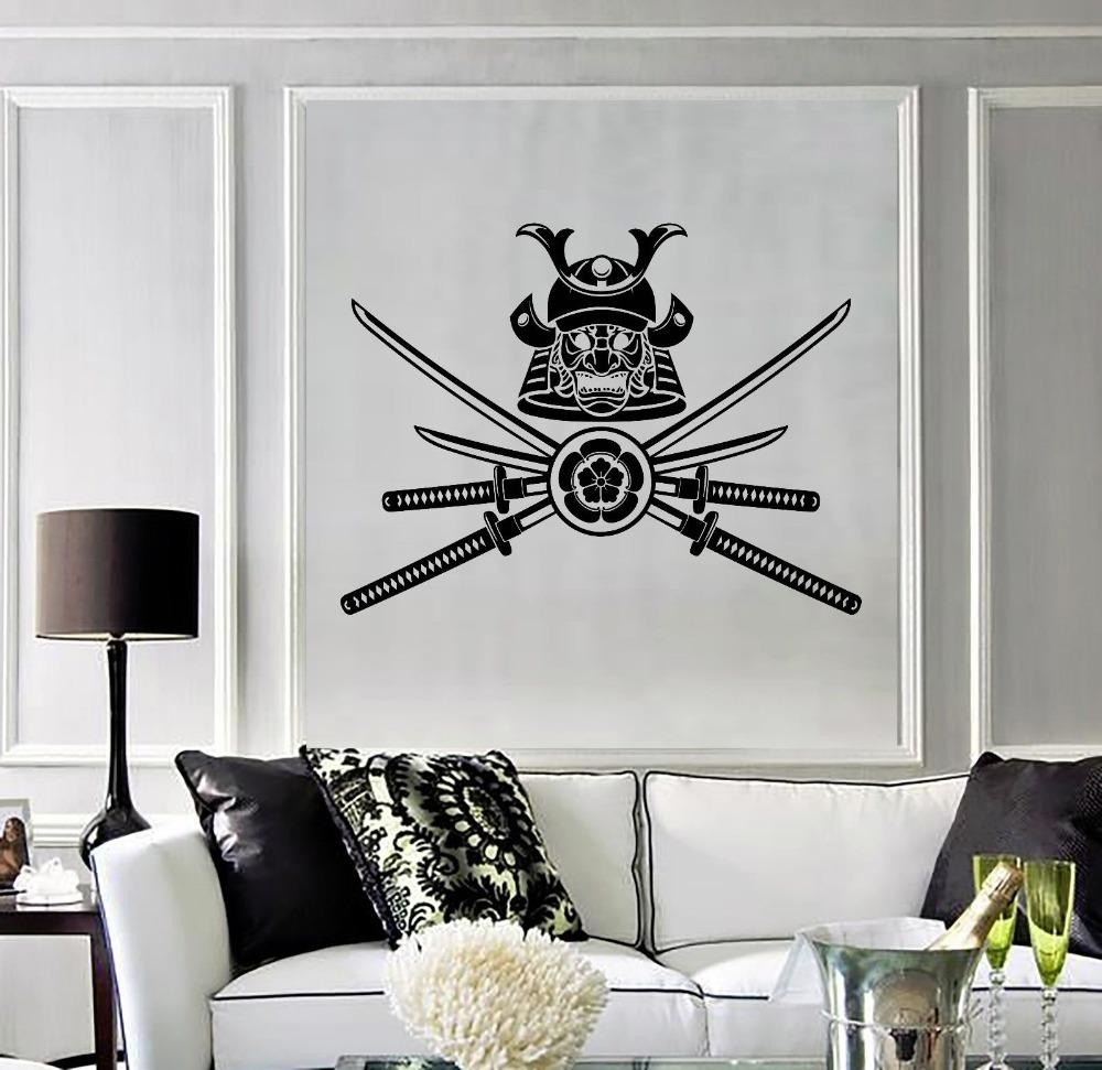 Aliexpress : Buy Removable Home Vinyl Decal Samurai Warrior Intended For Samurai Wall Art (View 16 of 20)