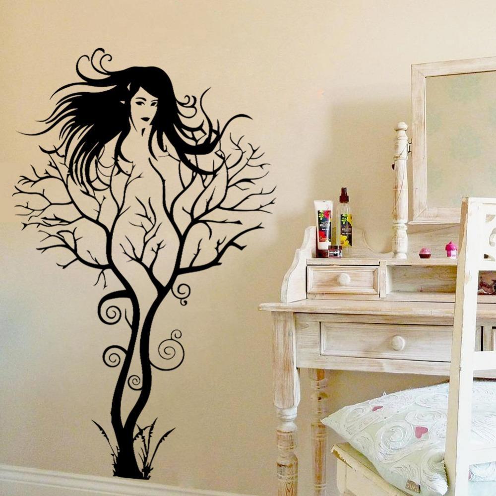 Aliexpress : Buy Sexy Girl Tree Wall Sticker Diy Hot Woman Pertaining To 3D Tree Wall Art (View 3 of 20)