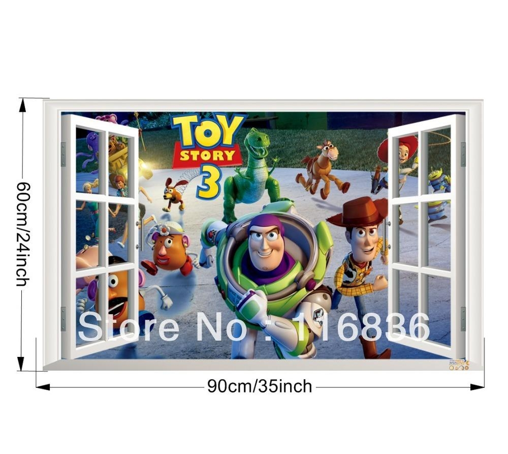 Aliexpress : Buy Small Size The Little Mermaid Fake Window Intended For Toy Story Wall Stickers (View 17 of 20)