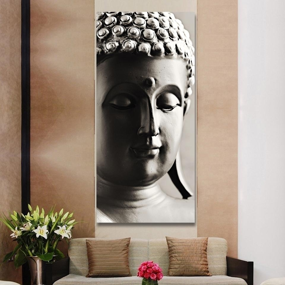 Aliexpress : Buy Special Chinese Styles Painting Silver Buddha Pertaining To Silver Buddha Wall Art (View 6 of 20)