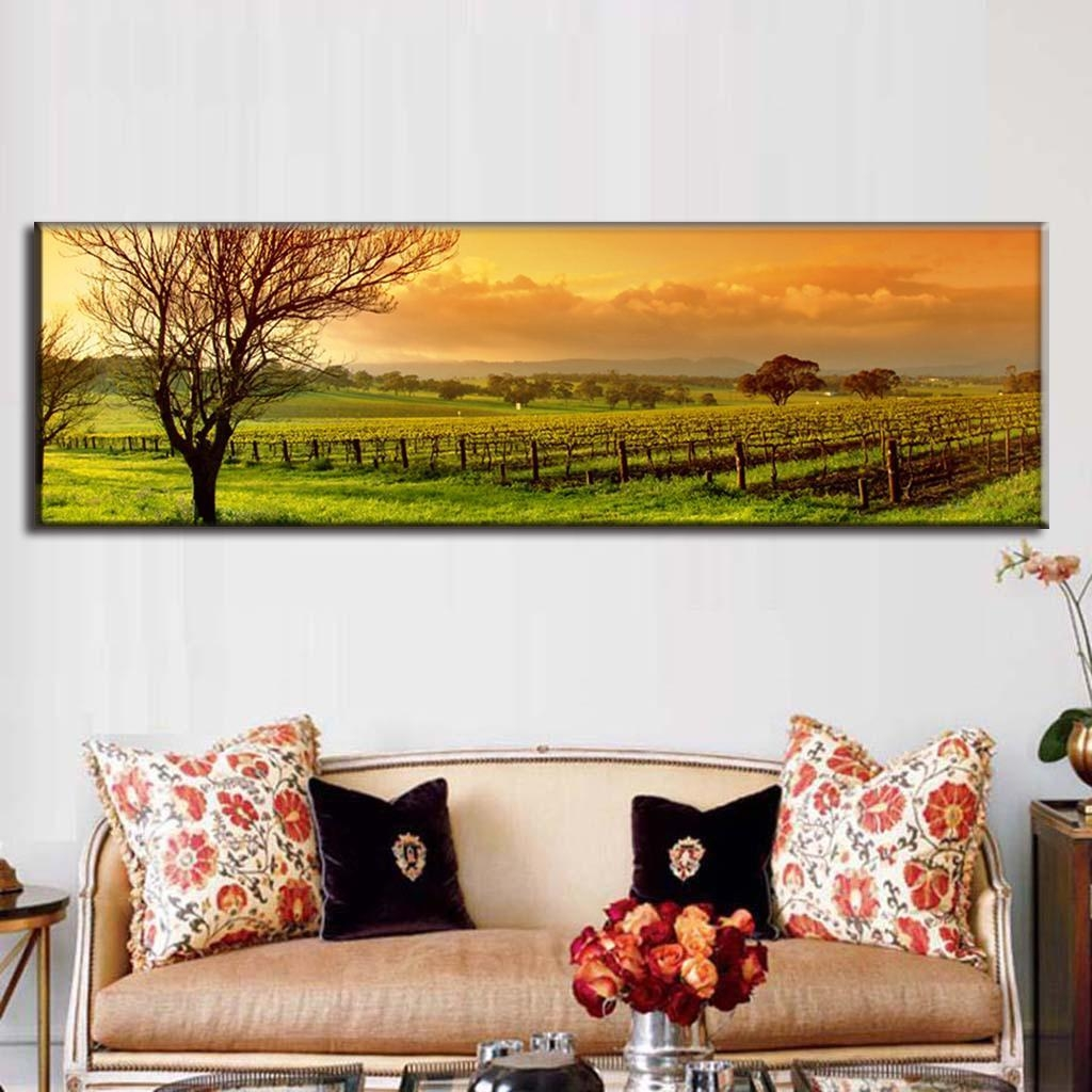 Aliexpress : Buy Super Large Single Picture Landscape Vineyard Throughout Vineyard Wall Art (Image 1 of 20)