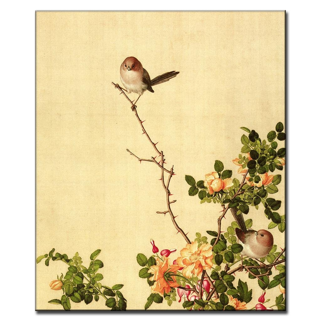Aliexpress : Buy The Birds And Rose Vines Traditional Within Chinoiserie Wall Art (Image 9 of 20)