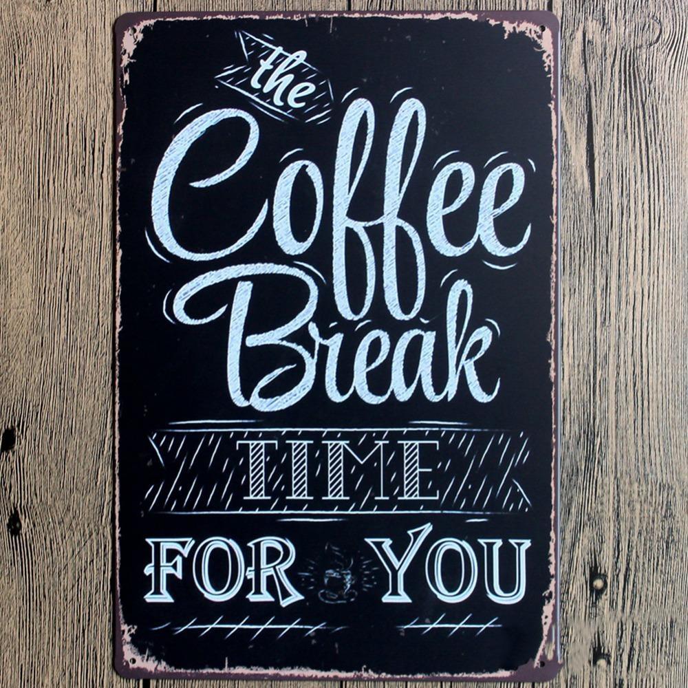 Aliexpress : Buy Wall Art Decor 20*30Cm Coffee Theme Vintage For Coffee Theme Metal Wall Art (Image 1 of 20)
