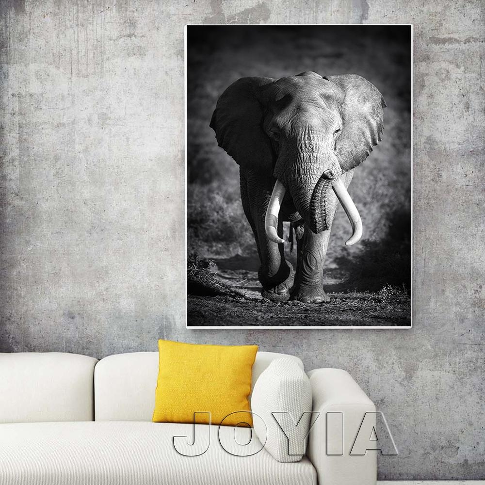 Aliexpress : Buy White Black Animal Canvas Wall Art Elephant With Animal Canvas Wall Art (Image 4 of 20)