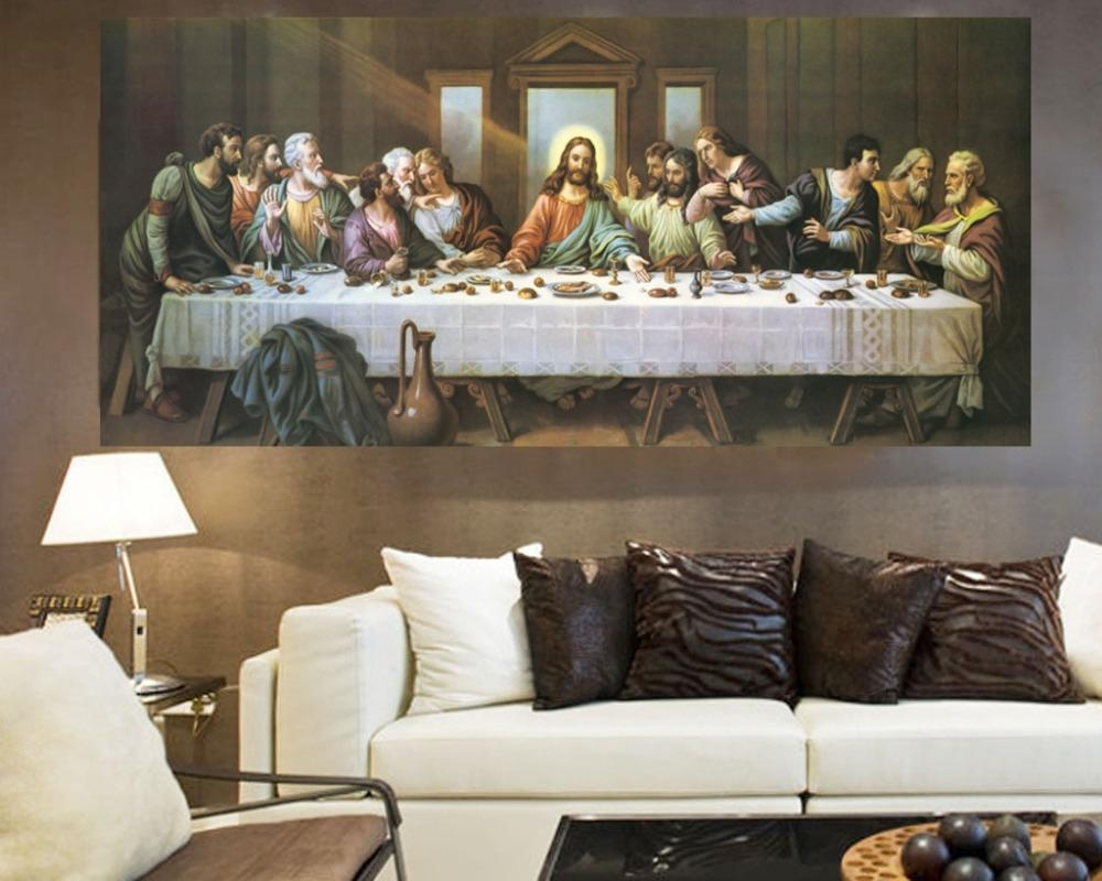 Aliexpress : Buy Wholesale Oil Painting # Good Quality Art With The Last Supper Wall Art (Image 2 of 20)