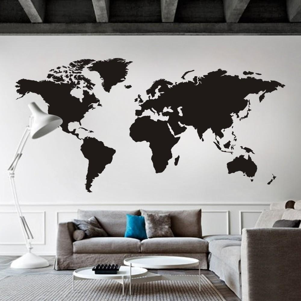 Aliexpress : Buy World Map Wall Decal The Whole World Atlas With Regard To Atlas Wall Art (View 3 of 20)