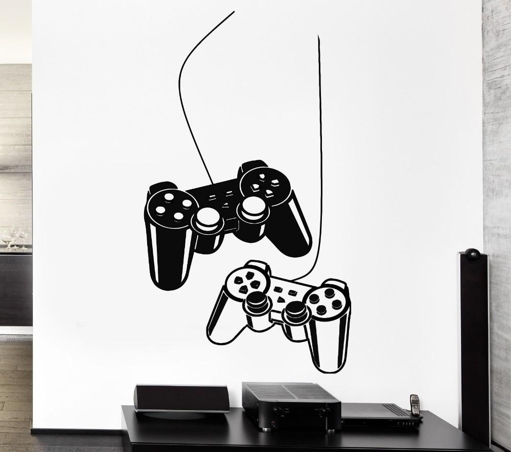 Aliexpress : Buy Yoyoyu Joystick Wall Sticker Gamer Video Play For Computer Wall Art (Image 3 of 20)
