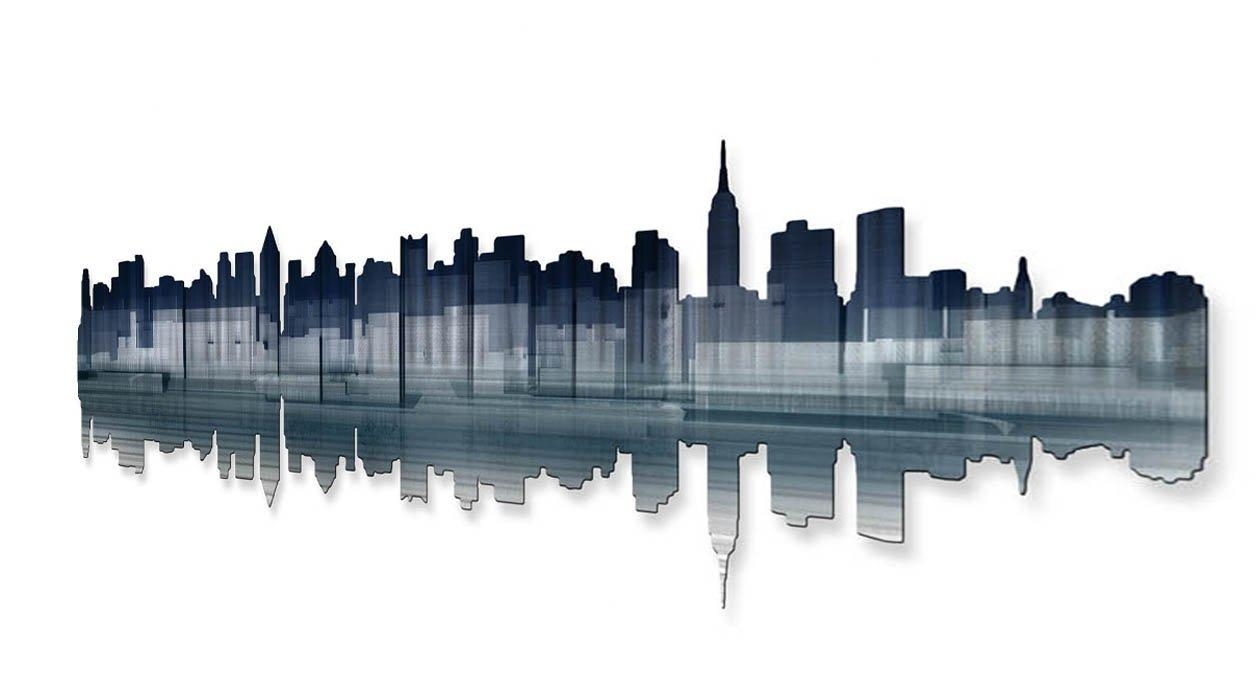 All My Walls New York City Reflection Wall Décor & Reviews   Wayfair Intended For Ash Carl Metal Wall Art (Image 4 of 20)