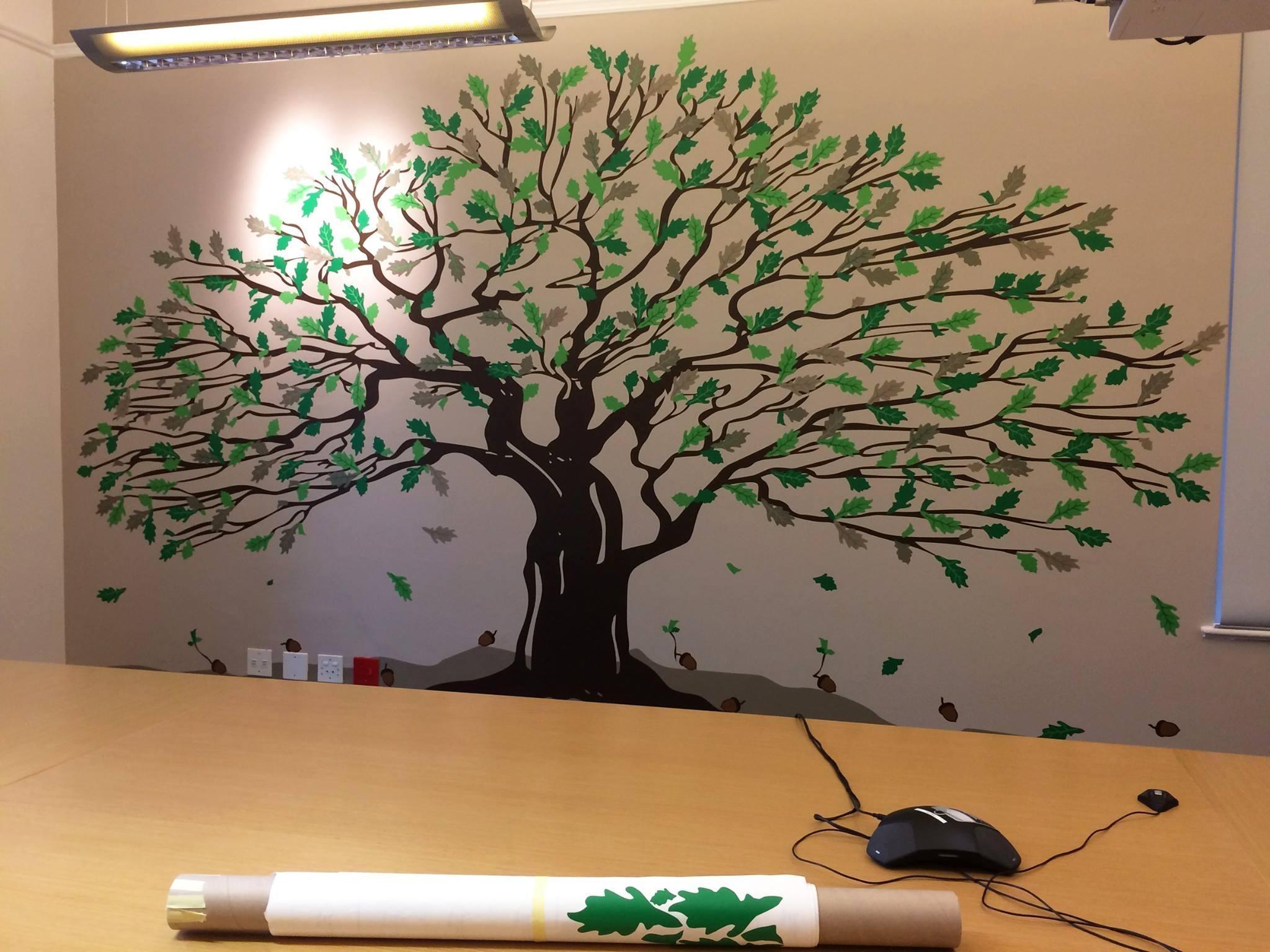 Allan Gray Oak Tree – Wallart Studios Intended For Oak Tree Wall Art (View 5 of 20)