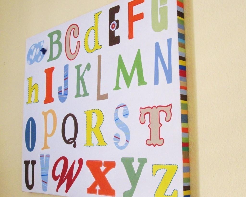 Alphabet Wall Art | Roselawnlutheran In Childrens Wall Art Canvas (View 15 of 20)