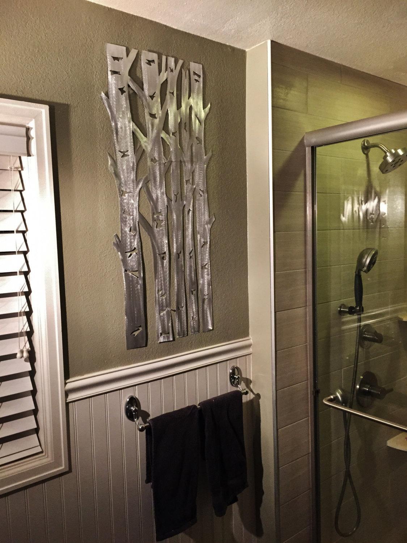 Aluminum Aspen Tree Wall Art, Metal Wall Art, Wall Art, Aspen Pertaining To Aspen Tree Wall Art (Image 1 of 20)
