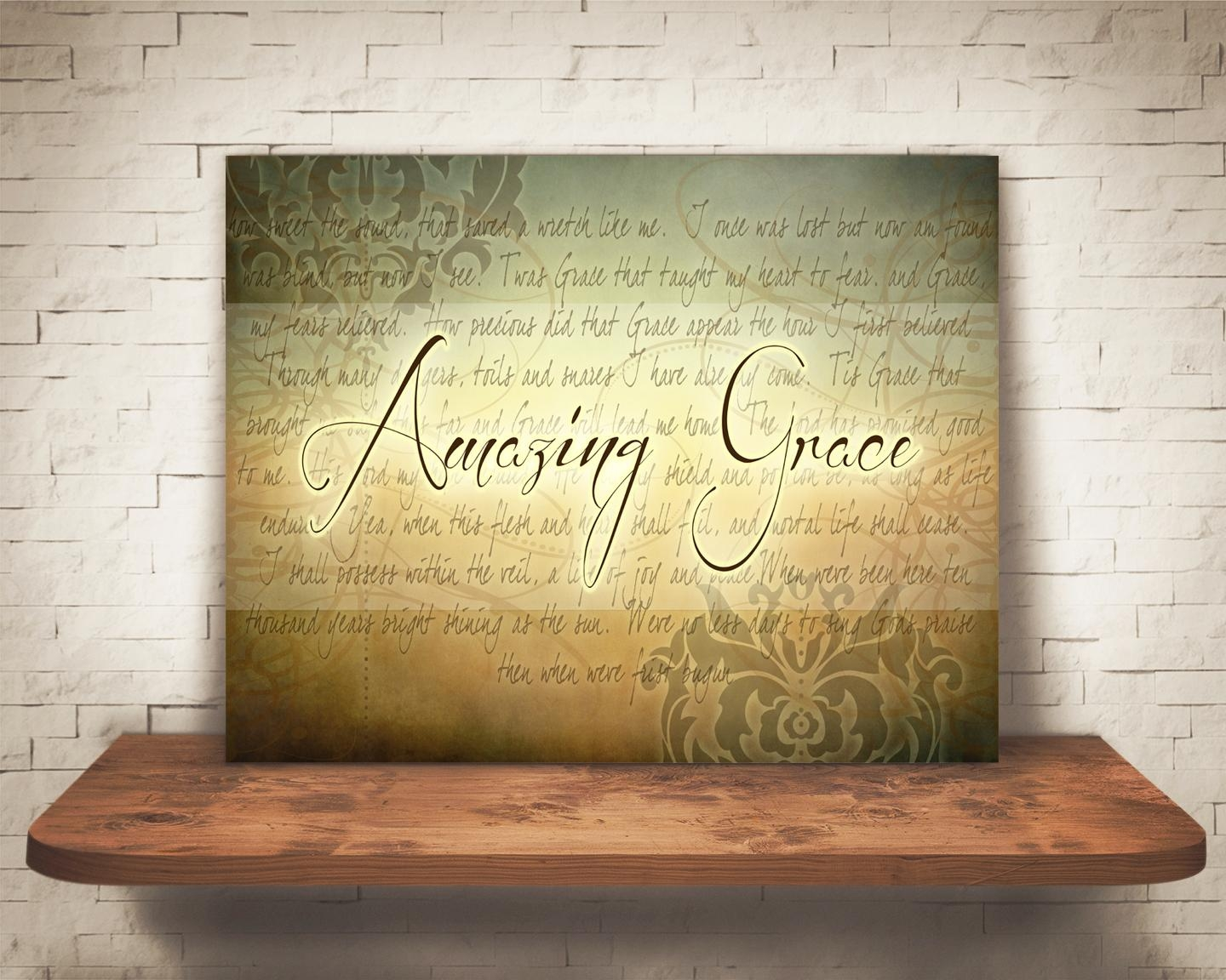 Amazing Grace Wall Art – Artsy Pumpkin Within Grace Wall Art (View 2 of 20)