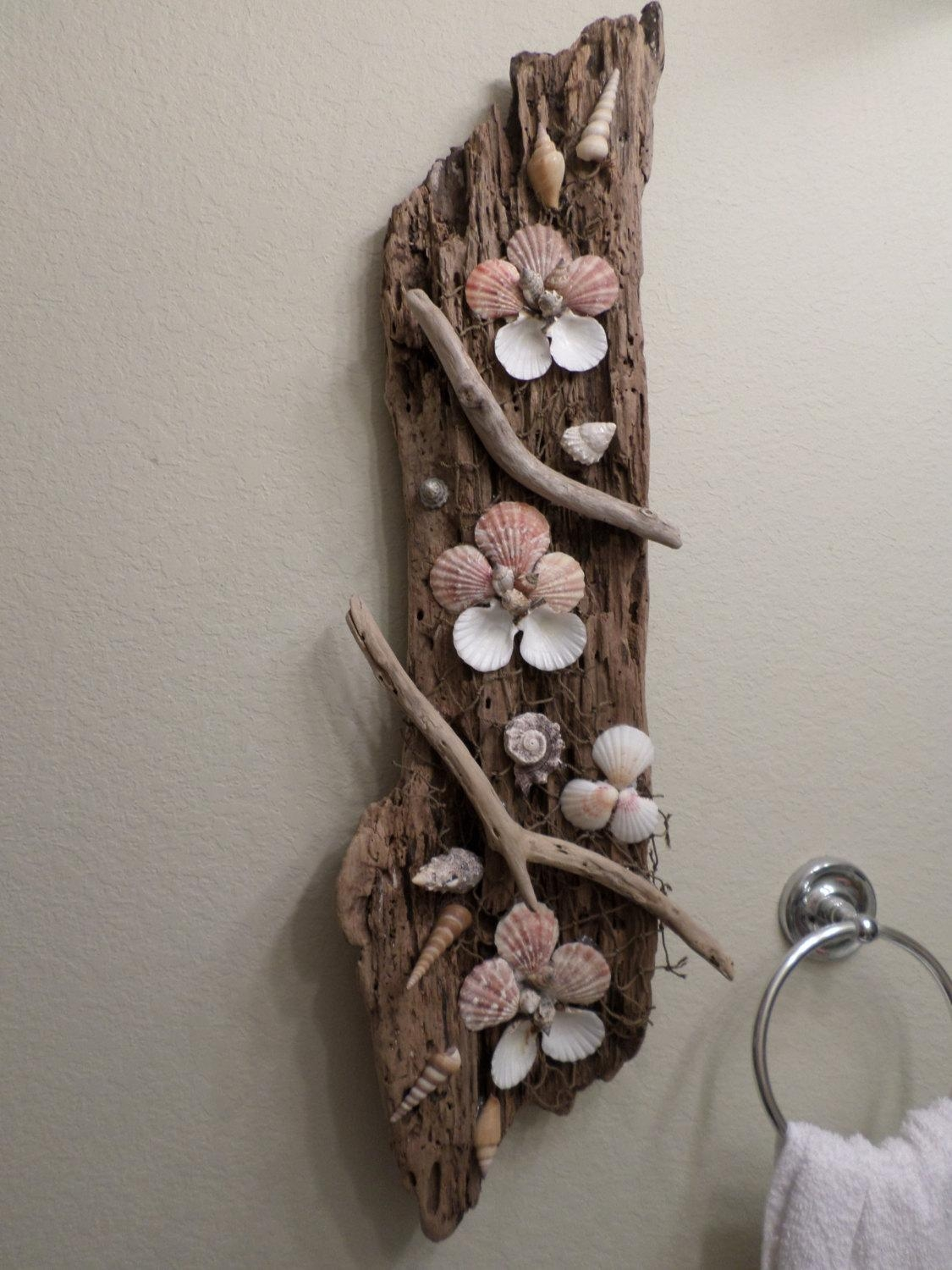Amazing Large Driftwood Sculpture Ocean Themed Wall Art Throughout Large Driftwood Wall Art (Image 2 of 20)