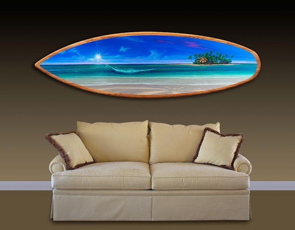 Amazing Surfboard Wall Decoration Ideas | Interior Decoration With Regard To Decorative Surfboard Wall Art (Image 3 of 20)