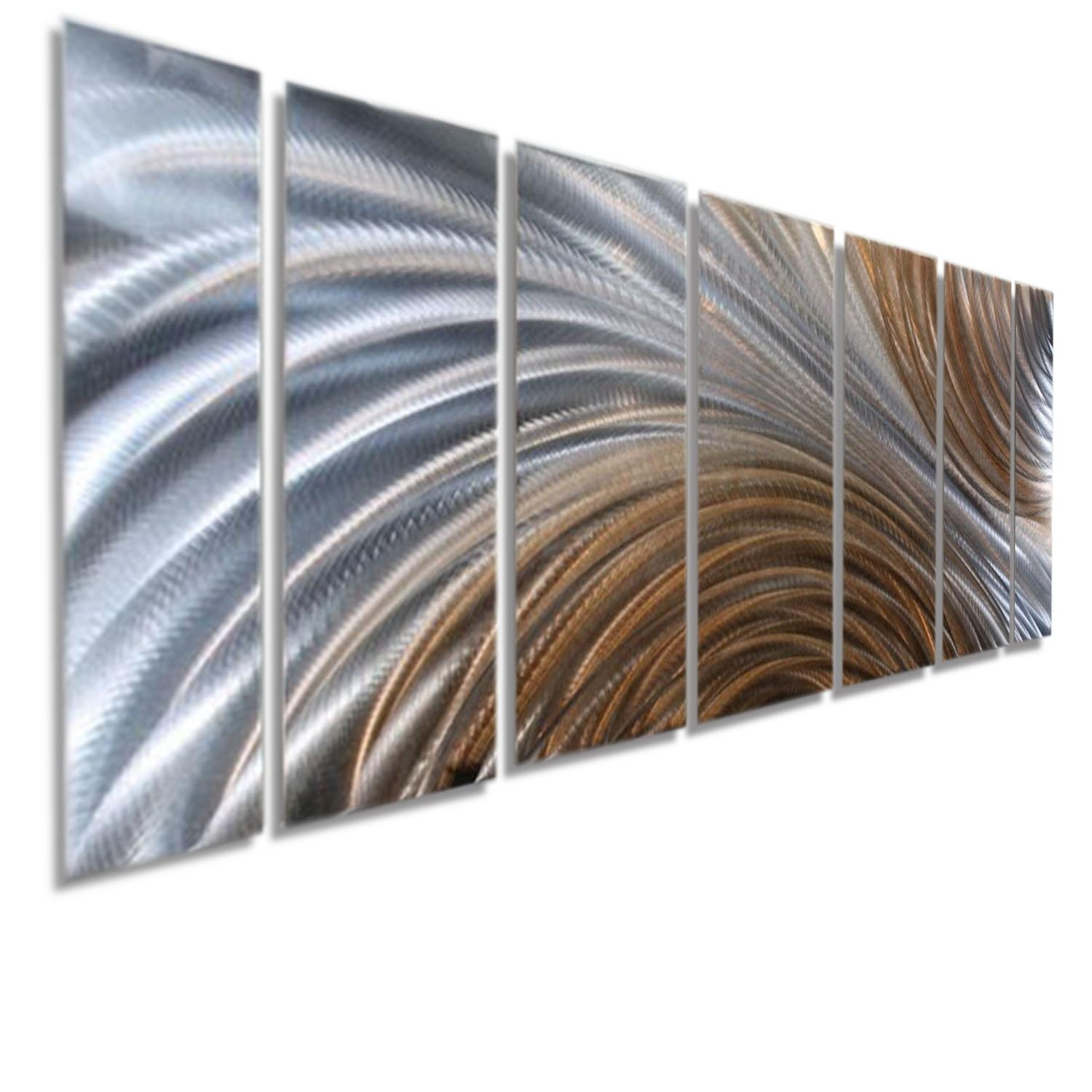 Amber Ascension Xl – Extra Large Silver & Copper Abstract Metal With Regard To Large Abstract Metal Wall Art (View 8 of 20)