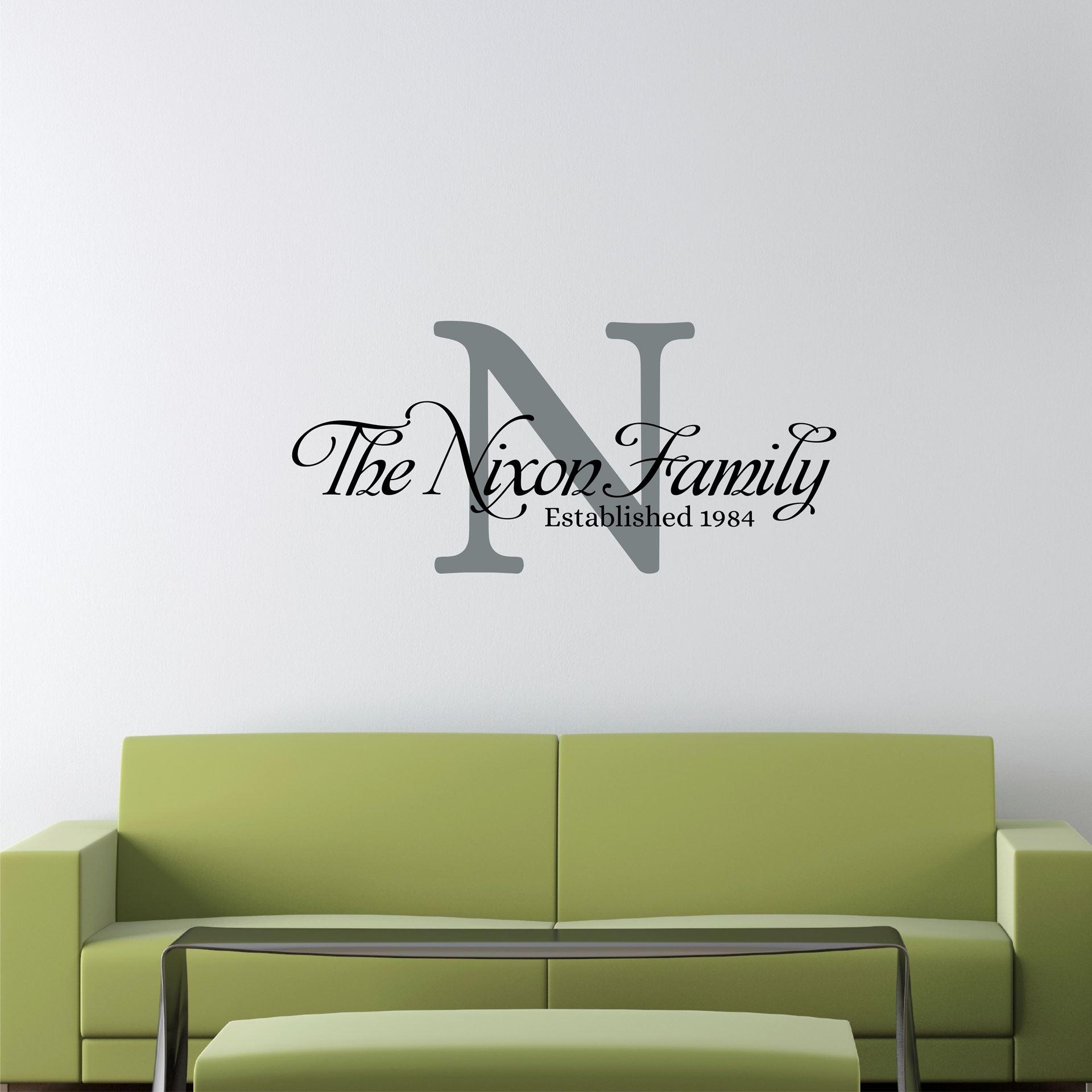 Amusing 25+ Personalized Last Name Wall Art Design Decoration Of Regarding Last Name Wall Art (Image 2 of 20)