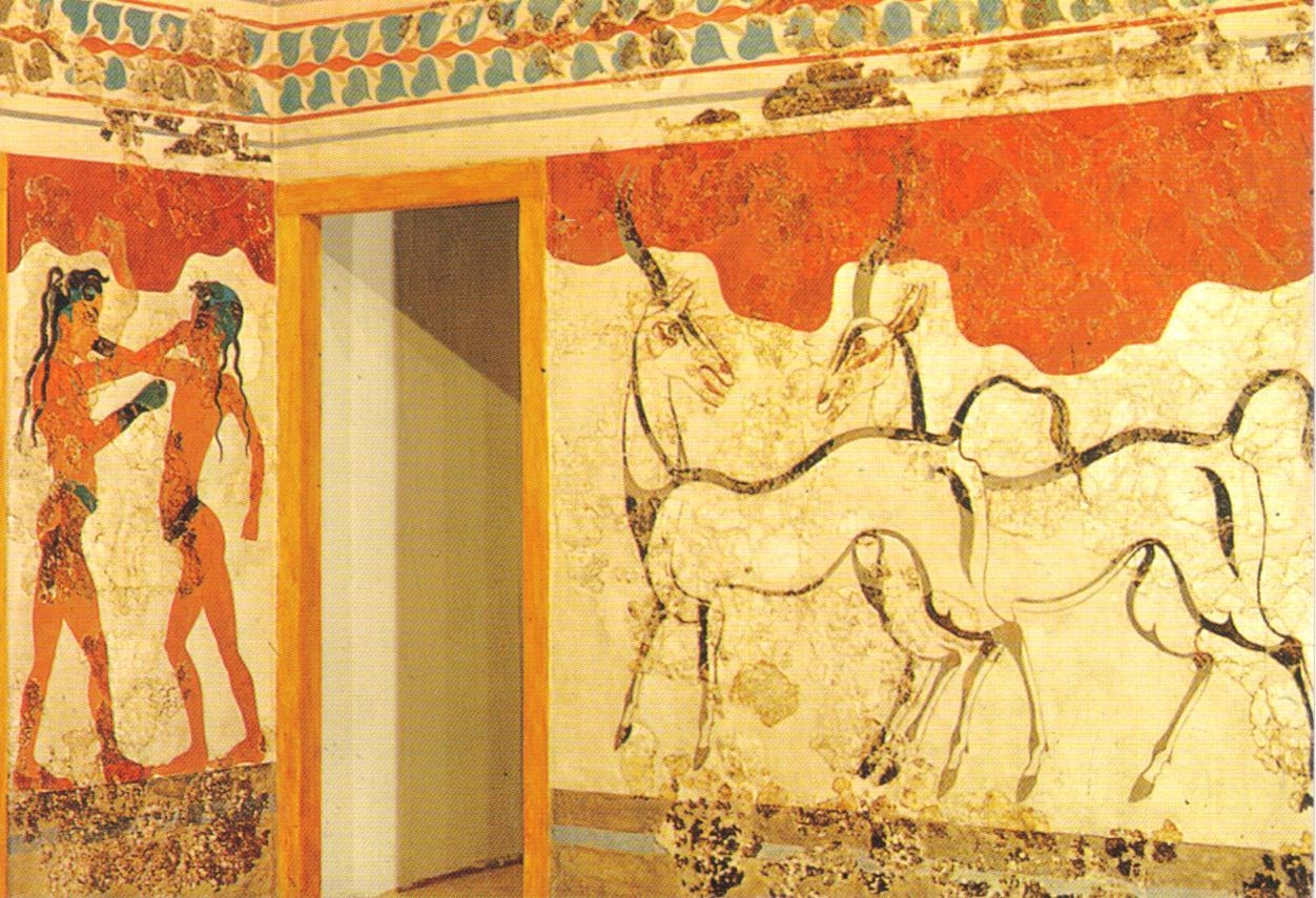 Ancient Greek Wall Painting Postcard – A Photo On Flickriver For Ancient Greek Wall Art (Image 2 of 20)