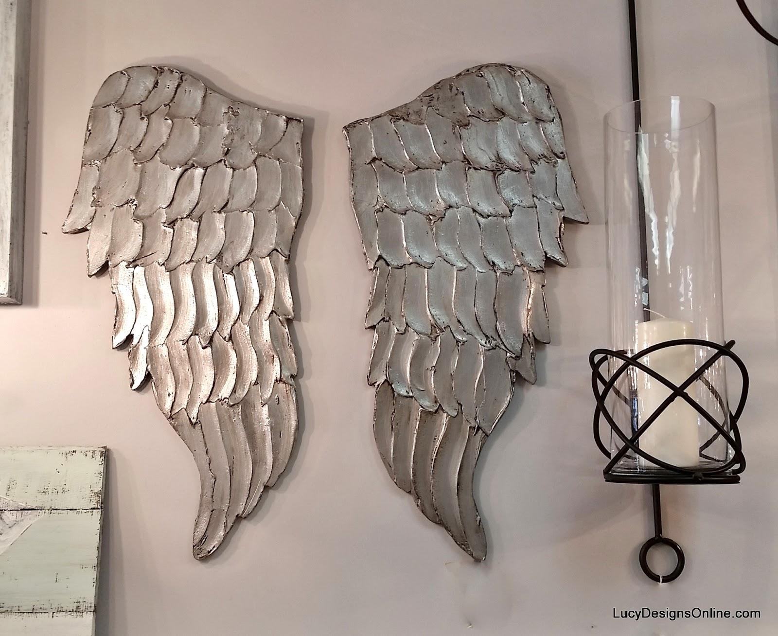 Angel Wing Wall Art, Carved Wood Look | Lucy Designs Pertaining To Angel Wings Wall Art (Image 1 of 20)