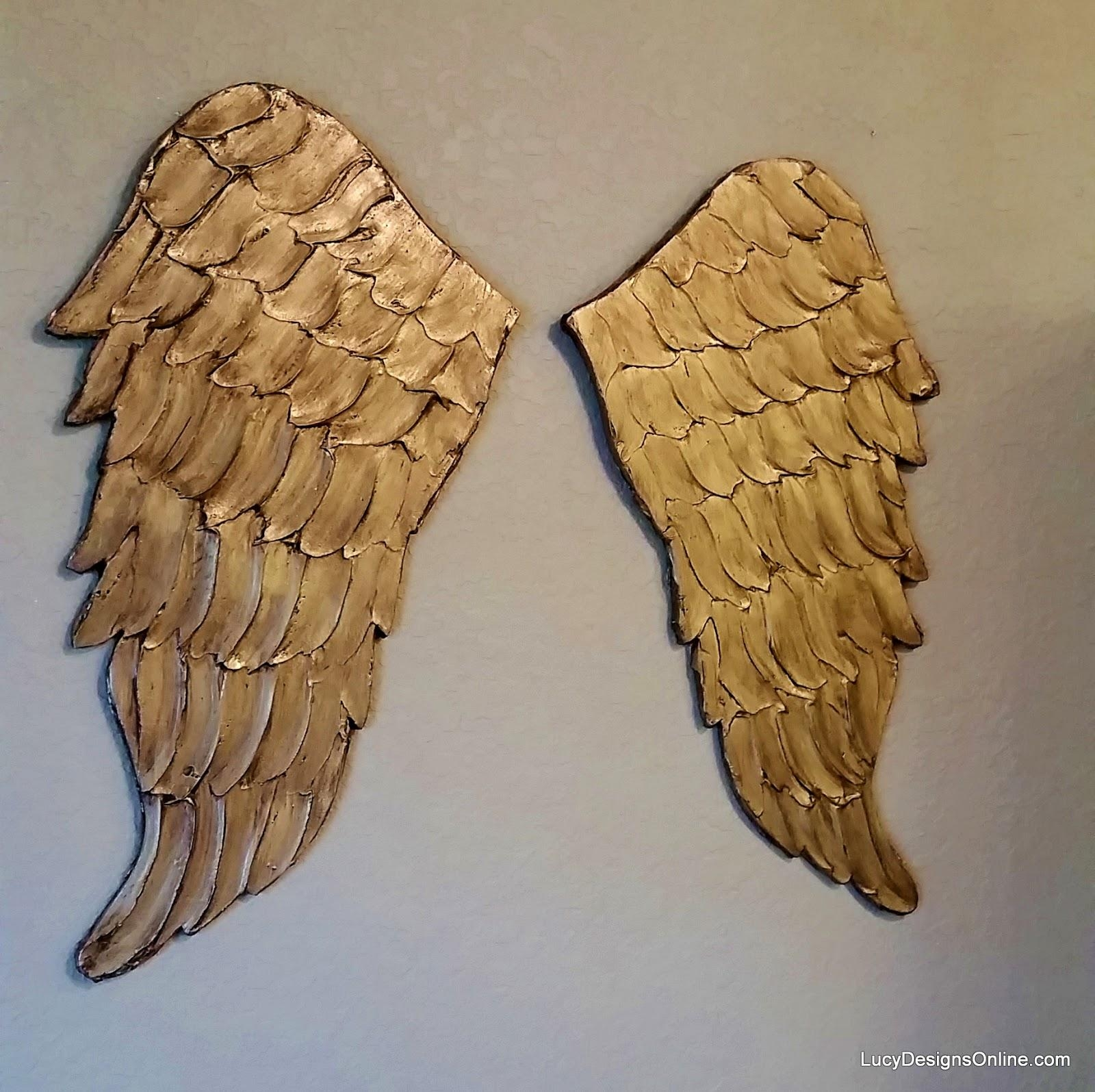 Angel Wing Wall Art, Carved Wood Look | Lucy Designs Within Angel Wings Wall Art (View 19 of 20)
