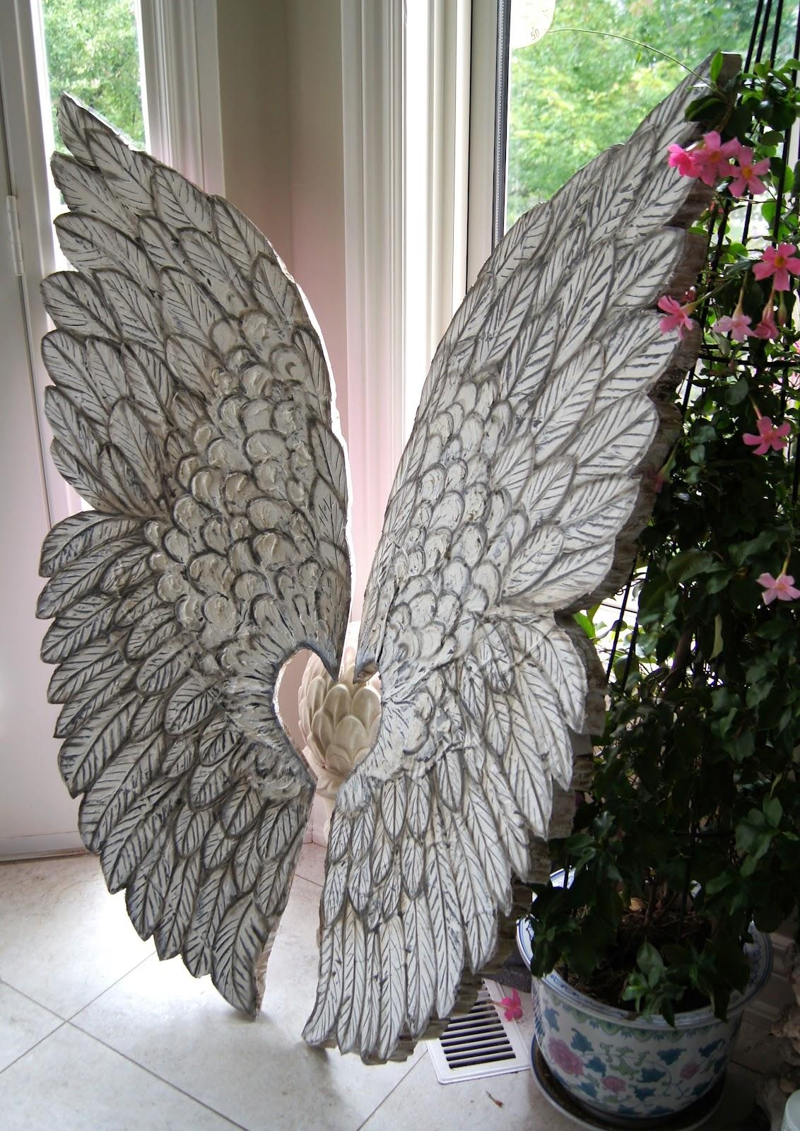 Featured Image of Angel Wings Sculpture Plaque Wall Art