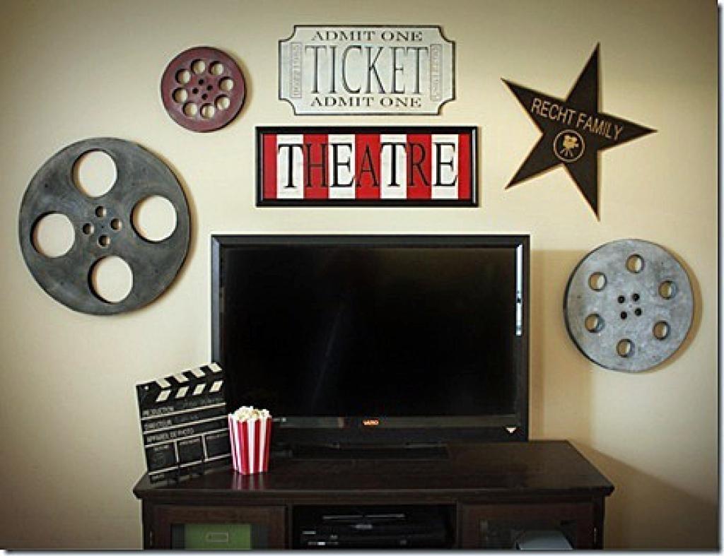 Antique Bronze Metal Movie Reel Wall Art | Hob Lob | 314377 Film For Film Reel Wall Art (Image 2 of 20)