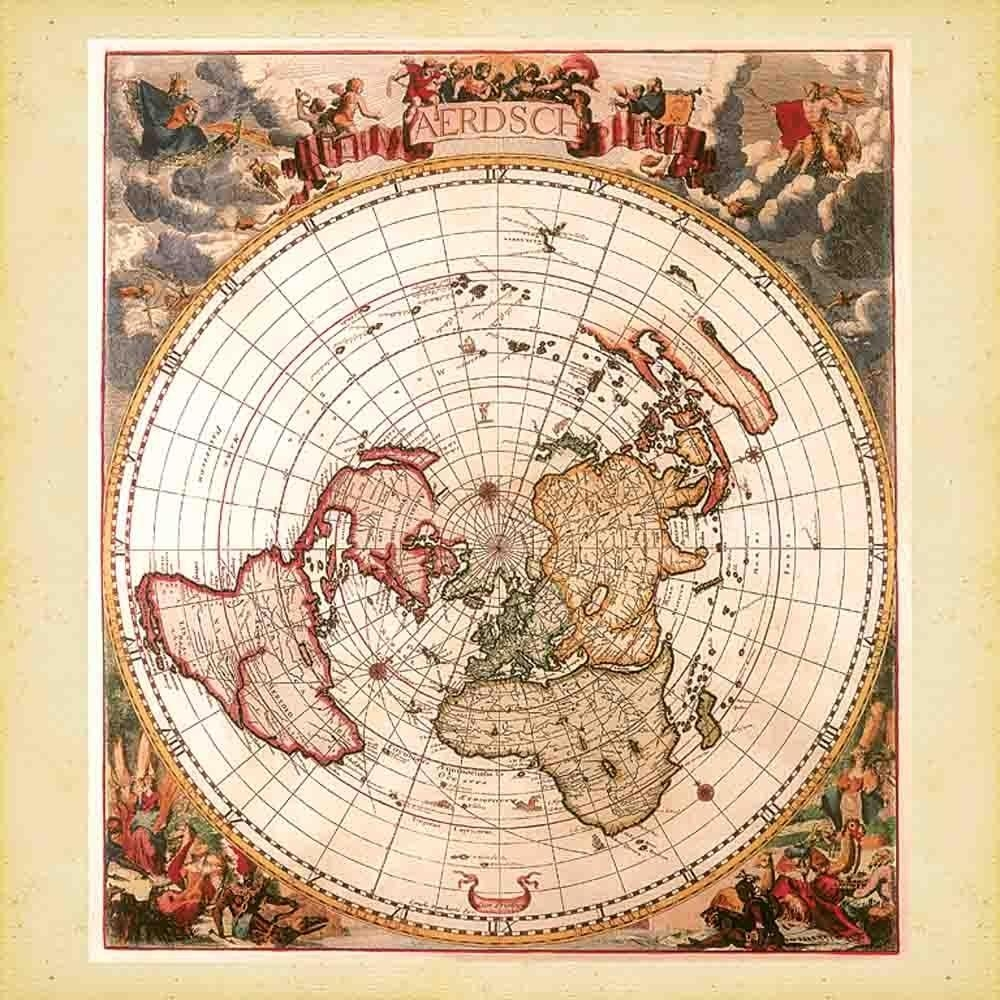 Antique Maps 2018 Wall Calendar: 9783960132707 | | Calendars Intended For Antique Map Wall Art (View 19 of 20)