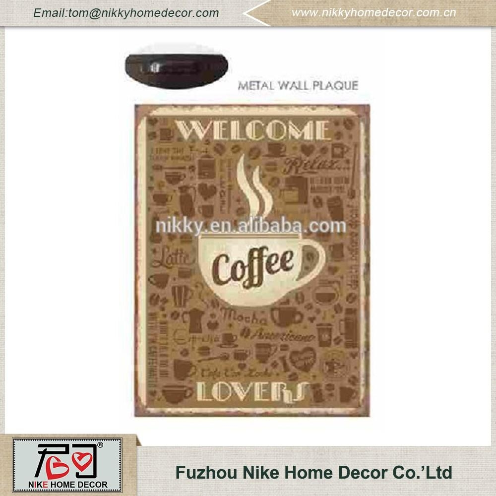 Antique Style Metal Coffee Cup Wall Art For Shop /house Decor Regarding Metal Coffee Cup Wall Art (Image 4 of 20)