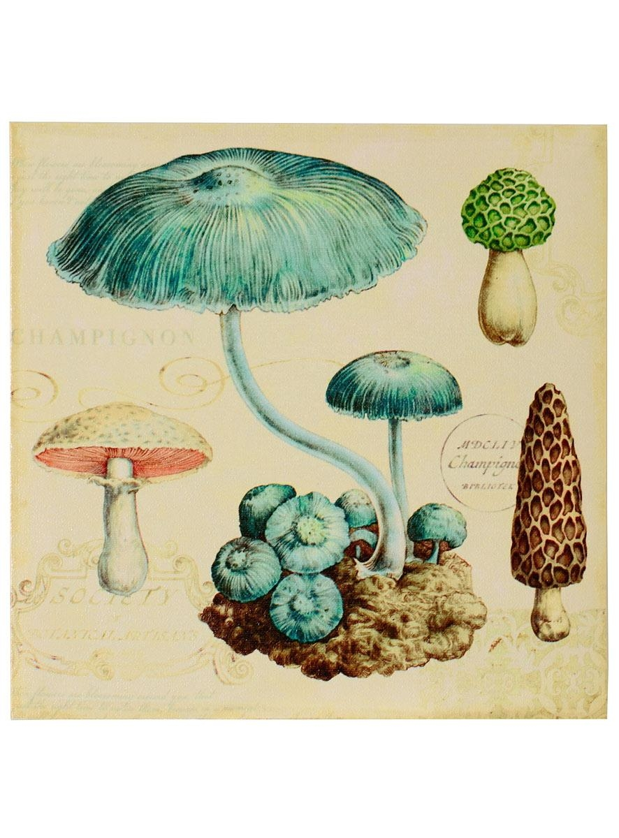 Apothic Mushroom Canvas Wall Art #1Creative Co Op | Wall Art In Mushroom Wall Art (Image 3 of 20)
