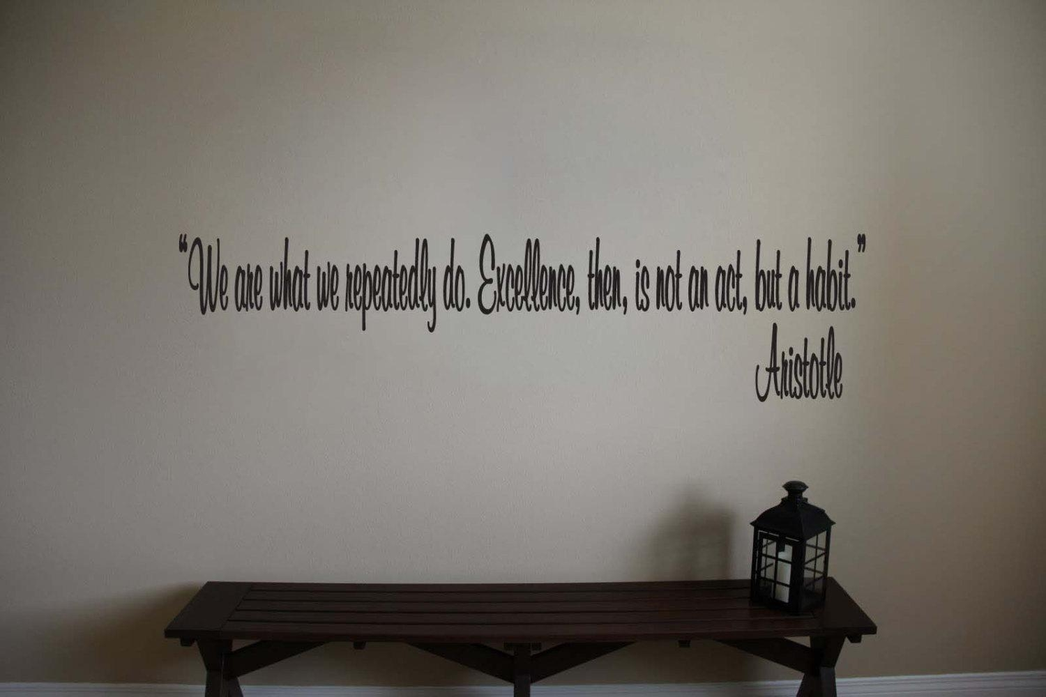 Aristotle Inspirational Teacher Classroom Quote Vinyl Wall For Classroom Vinyl Wall Art (Image 2 of 20)